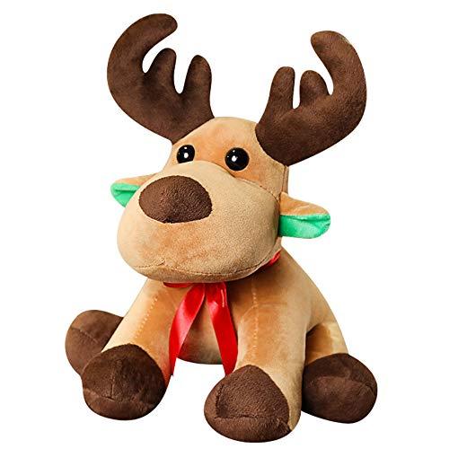 GSDJU Navidad, adorno para el hogar, cumpleaños, fiesta, año nuevo, agradecimiento, 45 cm, juguete de peluche, muñeca de ciervo suave de peluche para niños, decoración creativa del hogar