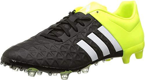 adidas Ace 15.2 Firm Artificial Ground Herren Fußballschuhe, Nero (Noir (Core Black/White/Solar Yellow)), 41 1/3 EU