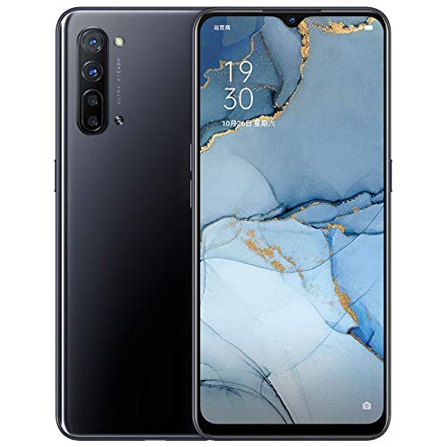 "Original Oppo Reno 3 5G Mobile Phone 8G+128GB 6.4"" AMOLED Android 10 Mediatek 1000L 64.0MP 5 Cameras VOOC 4.0 Screen Fingerprint OTG NFC Support Google by-(Real Star Technology) (Black 8+128G)"