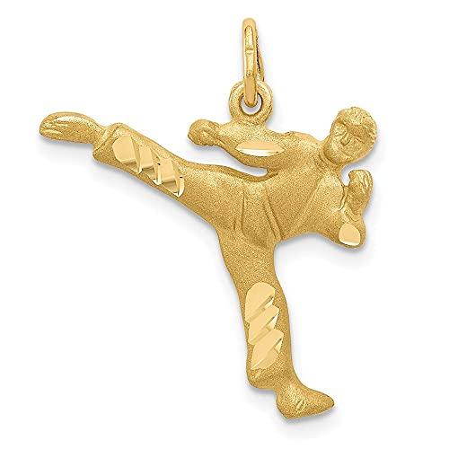 Diamond2deal Karate-Anhänger 14 Karat Gelbgold