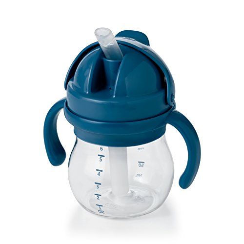 OXO Tot 6 Ounce Transitions Straw Cup with Removable Handles- Navy