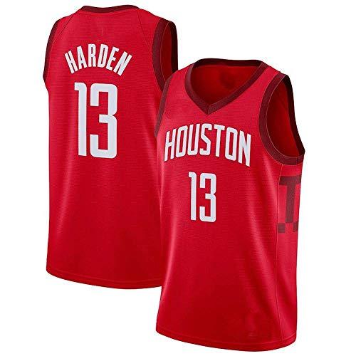 Ropa de Baloncesto de la NBA Camiseta de Verano Rockets # 23 James Harden Classic Bordado Baloncesto Uniforme de Baloncesto Absorbente y Transpirable Sudadera (Color : Red, Size : Large)