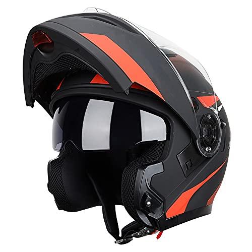 RMBDD Casco Moto Integral Dot/ECE Homologado mit Casco Motorradhelm Scooter para Hombre y Mujer Casco Unisex mit ABS de Motocicleta para Adultos (59~64CM)