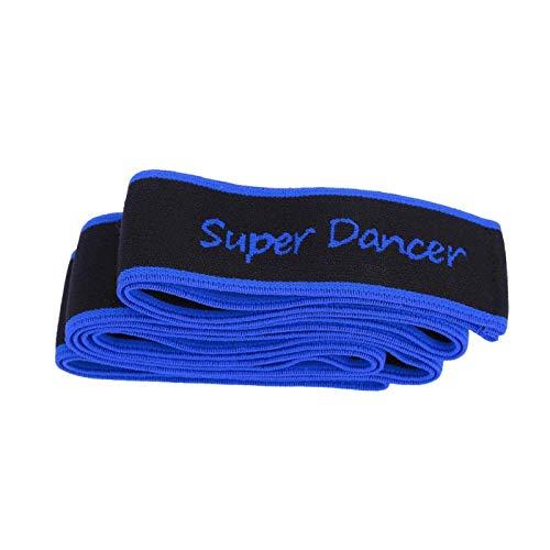 Wosune Banda de Estiramiento de Baile, Banda de Resistencia de Yoga para Ejercicio eficaz, Duradera para el hogar, para Aficionados, para Jugadores, para entusiastas del Aire Libre(Blue)
