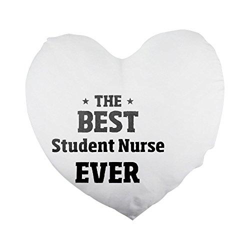 The Best Student Nurse Ever, funda de almohada con forma de corazón