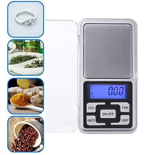 LLLLDDLLLDM - Mini báscula digital de bolsillo, 500 g, para joyas, ingredientes y granos de café, balanza electrónica