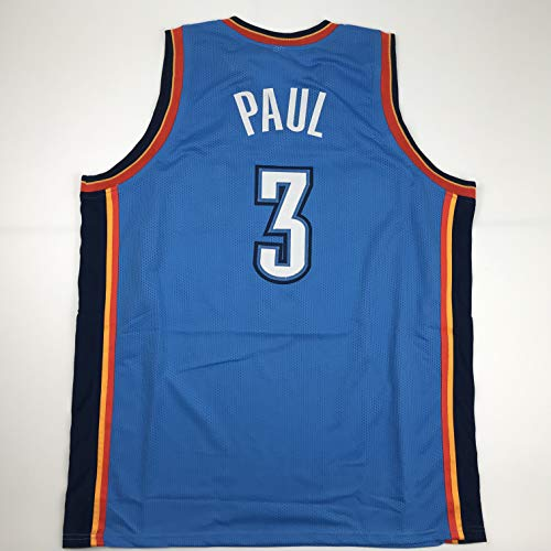 Unsigned Chris Paul Oklahoma City Blue Custom Stitched Basketball Jersey Size Men's XL New No Brands/Logos