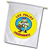 Los Pollos Hermanos Gus Fring Fried Chicken Breaking Bad Insignia Emblem Seal Vintage Gas Signs Reproduction Car Company Vintage Style Round Wall Flag Garden Flag Single Sided Garage Home Decor