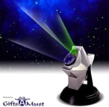 [upgraded 2019 Version] Laser Stars Twilight Projector, Romantic Relaxing Night Light Show, hologram Cosmos Planetarium Sky Constellation Galaxy Projection, Party Lights. by Gifts A Must