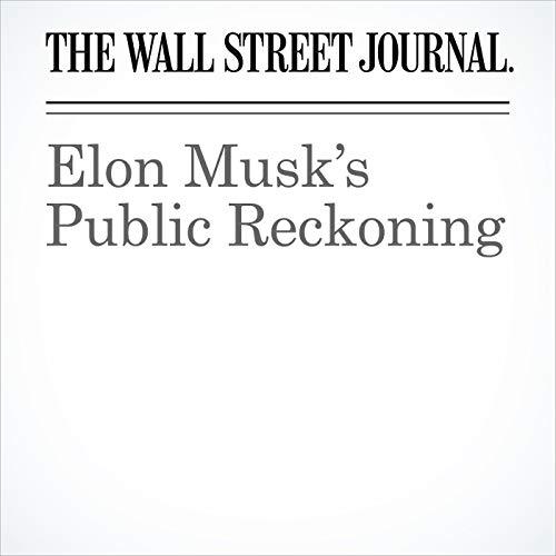 Elon Musk's Public Reckoning copertina