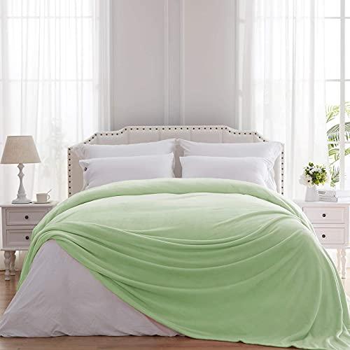 Hboemde Fleecedecke in Queen-Size-Größe aus weichem Flanell, Decke als Tagesdecke für Bett, Coush Sofa – leicht, gemütliche Mikrofaser (90 x 90 cm)