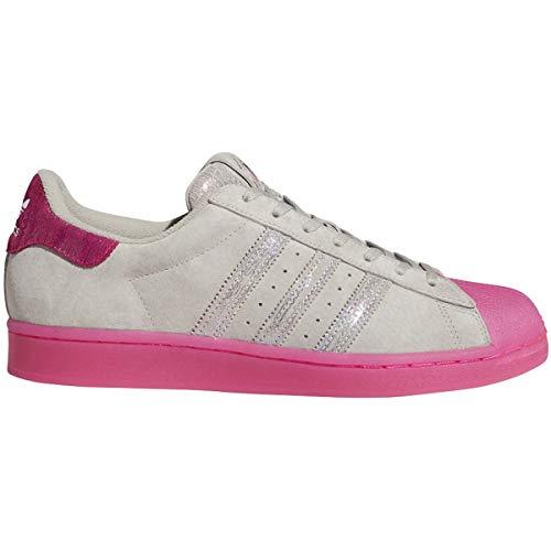 adidas Originals Men's Superstar Chicago Shoes ASW VIC (Metal Grey/Shock Pink/Blue, Numeric_7_Point_5)