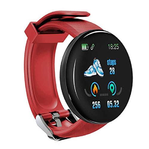 Podómetro Deportivo N/C, Monitoreo del Sueño, Reloj De Frecuencia Cardíaca, Reloj Inteligente Rojo