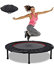 Fitness Trampoline Fitnesstrampolines Ø 102 cmMini Trampoline Bounce Opvouwbaar Tot 130 KG Stabiel Robuust Trampoline Voor Binnen en Buiten