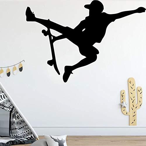 Papel de vinilo de monopatín para habitación de niños pegatinas de pared de diseño creativo