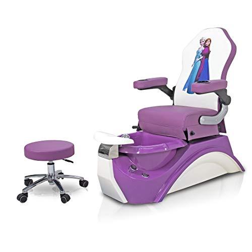 Kids Purple Frozen Pedicure Chair