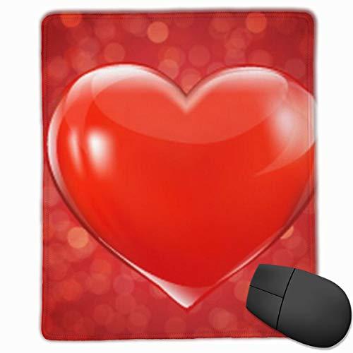 Alfombrilla de ratón Tarjeta del día de San Valentín con corazón Alfombrilla de ratón Teclado de Escritorio de Oficina Alfombrilla de ratón Base de Goma Antideslizante
