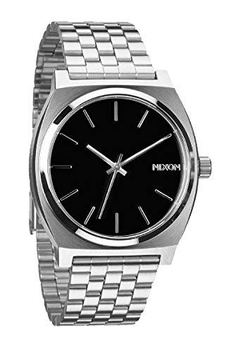 Nixon Time Teller, Nixon Herrenuhr, Edelstahl, Official Argento - Nero