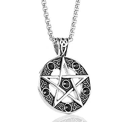 Stainless Steel Powerful Pentagram Necklaces