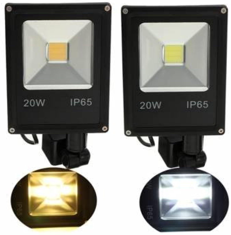20W PIR Bewegungs-Sensor LED-Flutlicht IP65 Warm   Kalt Wei Beleuchtung