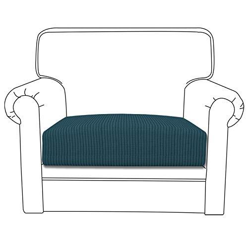 Easy-Going Stretch Cushion Cover Sofa Cushion Furniture Protector Sofa Seat Sofa slipcover Sofa Cover Soft Flexibility with Elastic Bottom(Chiar Cushion,Deep Teal)
