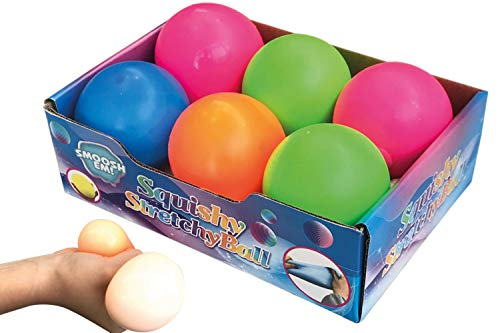 MAXFLO Stress Balls [6 Pack] | Stress Balls for Kids and Adults | Stress Relief Toys | Squishy Stress Balls for Anxiety | Non-Toxic | Sensory Toy Ball | Colors as Shown| ADHD Fidget Toys