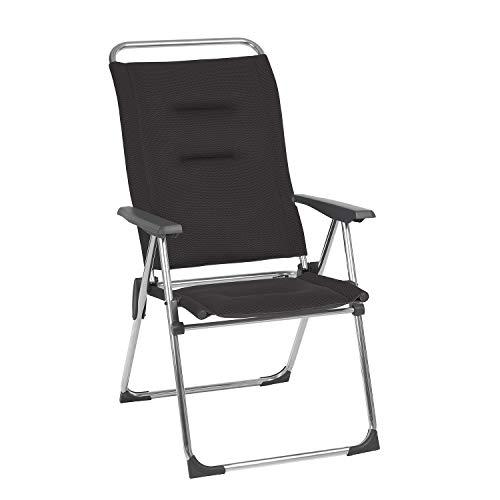Lafuma Fauteuil de camping pliant, Compact, ALU CHAM, Air Comfort, Couleur: Acier, LFM2848-6589