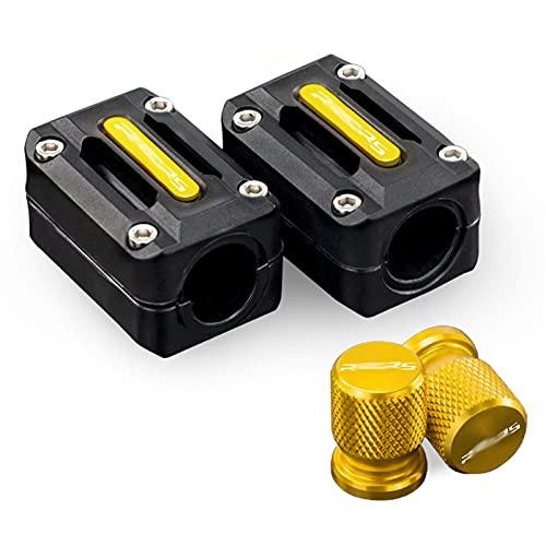 Válvula de neumático de la rueda de la motocicleta Tapa de vástago de las tapas herméticas Protección contra la barra de bloqueo del motor Bloque de protección decorativa / Ajuste para BMW R1250RS