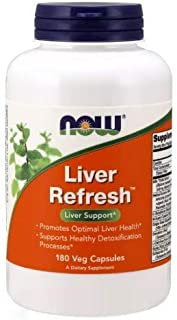 NOW Foods Liver Refresh Veg Capsules,180 Capsules (Pack of 2)