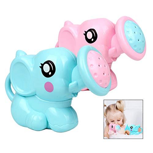 XLKJ 2 Piezas Juguetes de Baño para Bebé, Juguete Regadera Elefante Ducha, Natación del Bebé Baño Ducha Spray Herramienta Agua Juguetes con Divertidos Dibujos Animados