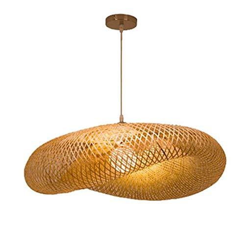 Heritan Lámpara colgante de lámpara de araña de ratán, lámpara de nido de pájaro para bar, cafetería, sala de estar