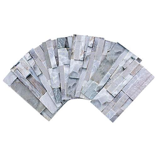 Dcolor Cocina Ba?o Pelar y Pegar 3D Autoadhesivo Mosaico Escalera Etiqueta Engomada de Azulejo -9 Piezas