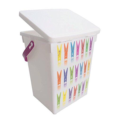 Wäscheklammer-Box zum aufbewahren von Wäscheklammern 16,5 x 14 x 23 cm
