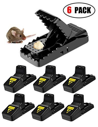Felly Mausefalle, 6 stück Mäusefalle Rattenfalle Schlagfalle aus Kunststoff, Hygienisch Wiederverwendbar effektive Rattenfalle in Haus und Garten
