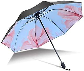 Paraguas de flores de diseño de paraguas portátil de lujo para mujeres hombres paraguas de lluvia a prueba de viento Anti-UV