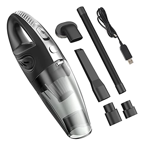 BELIJA Handheld Vacuum, Hand Vacuum Cordless with High Power, Quick Charge, Portable Waterwashable Filter with Powerful Cyclonic Suction vacuums Cleaner for Home Office and Car Cleaning