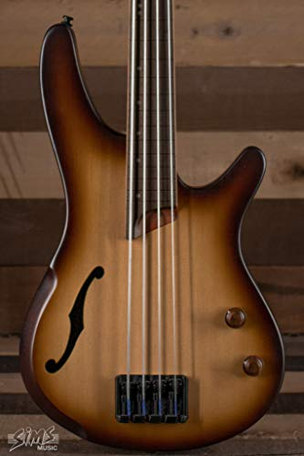 Ibanez SRH500F Fretless Acoustic-Electric Bass Guitar Flat Natural Browned Burst