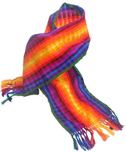 Terrapin Trading Ltd Fair Trade Regenboog Gay Pride Licht Heldere Zomer Sjaal Cravat