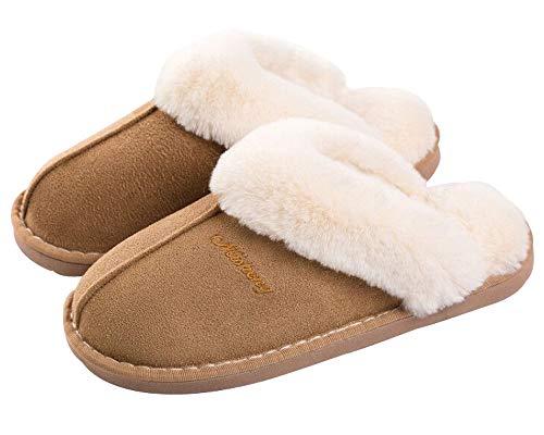 Pantofole da Donna Ciabatte Invernali da Interno Soffici con Dolce Peluche Pantofola Scarpe Antiscivolo Regalo Natalizio per Donna