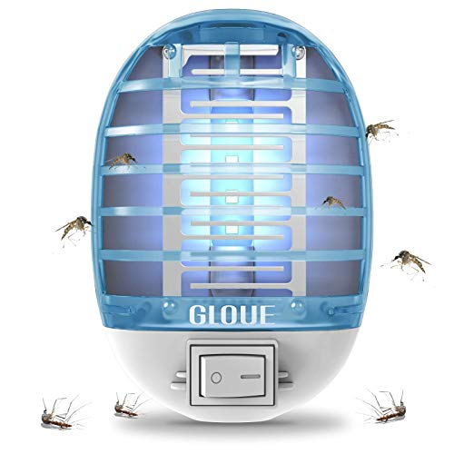 GLOUE Bug Zapper, 2021 Upgraded Mosquito Killer Electronic Insect Killer Fly Trap Indoor, Electric Mosquito Zapper with Blue Lights for Home, Kitchen, Bedroom, Baby Room, Office