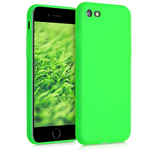 kwmobile TPU Case Compatible with Apple iPhone 7/8 / SE (2020) - Case Soft Slim Smooth Flexible Protective Phone Cover - Neon Green