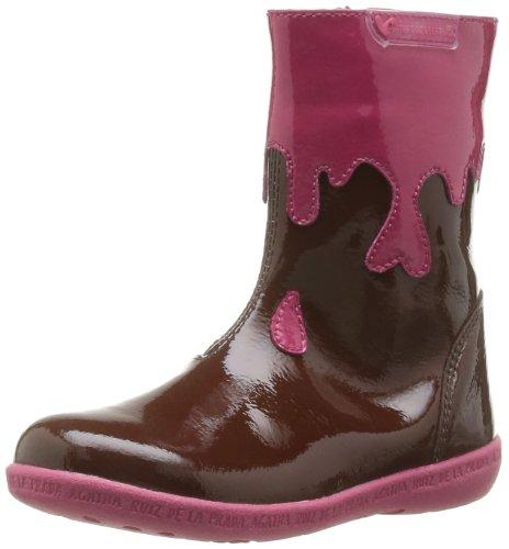 Agatha Ruiz de la Prada Jade, Boots Fille - Marron (B Marron Charol), 25 EU (8 UK) (7.5 US)