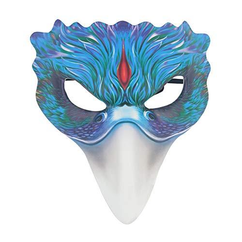WISREMT Kreative Halloween-Maske Fuchsmaske Halbgesichtsmaske Halloween-Requisiten Pelziges Tier Kostüm für Erwachsene Phoenix-Maske - Halloween-Tiergesichtsmaske