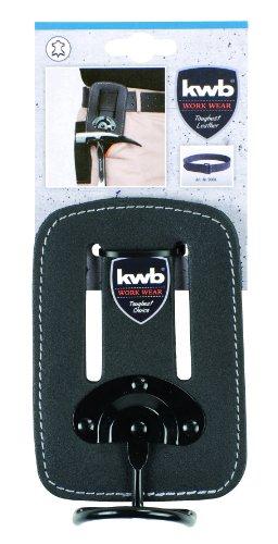 kwb Hammerhalter 906110 (aus Leder, mit beweglichem Bügel aus Metall, am Gürtel tragbar)