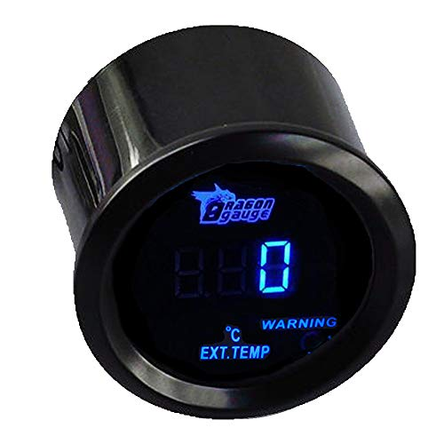 "Mintice Kfz Auto Motor 2\"" 52mm Digitales Blaues LED-Licht Anzeige Abgastemperaturanzeige Messgerät EGT EXT Messgerät Sensor"