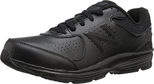 New Balance Men's 411 V2 Lace-Up Walking Shoe, Black, 11 W US