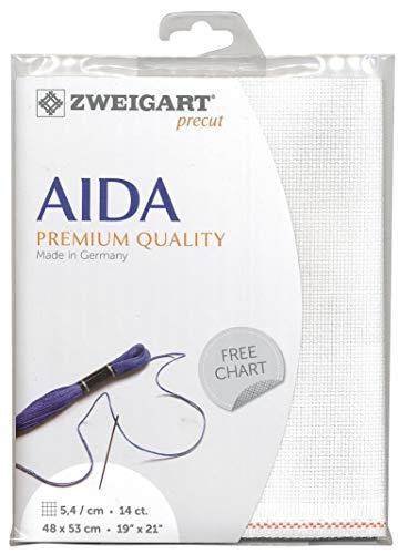 Zweigart Precut Stern-Aida col.101 Stoffzuschnitt, 48 x 68 cm