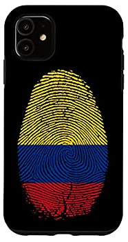 iPhone 11 Colombia Flag Fingerprint It is in my DNA Gift Colombians Case