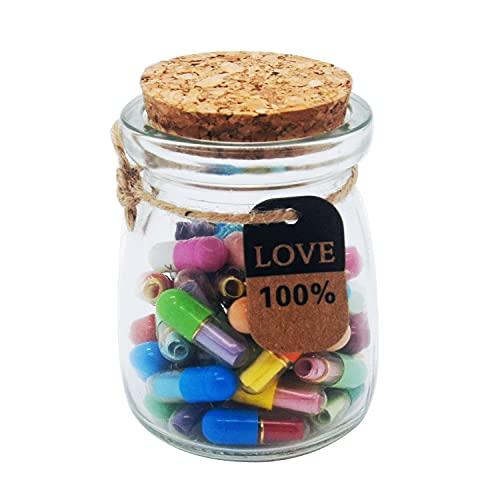 LONG BEAUTY Capsule Letters Message in Glass Bottle, Romantic Capsule Pills for Boyfriend/Girlfriend...