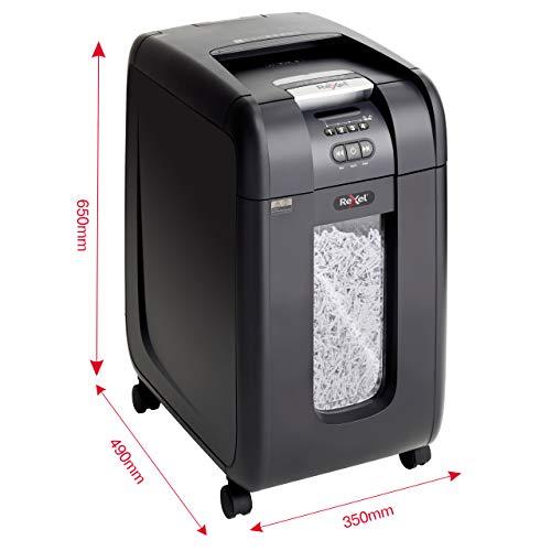 Rexel Auto+ 300X - Destructeur de Documents - Automatique - Coupe Croisée - 300 Feuilles - Jusqu'à 10 Utilisateurs, Corbeille 40L, Noir, 2103250EU